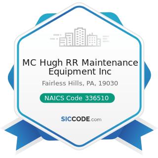 MC Hugh RR Maintenance Equipment Inc - NAICS Code 336510 - Railroad Rolling Stock Manufacturing