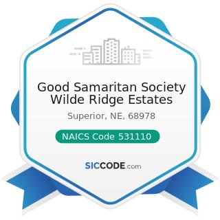 Good Samaritan Society Wilde Ridge Estates - NAICS Code 531110 - Lessors of Residential...
