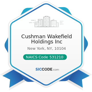 Cushman Wakefield Holdings Inc - NAICS Code 531210 - Offices of Real Estate Agents and Brokers