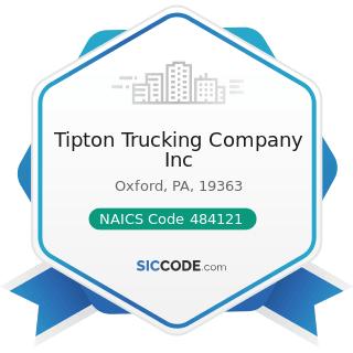Tipton Trucking Company Inc - NAICS Code 484121 - General Freight Trucking, Long-Distance,...