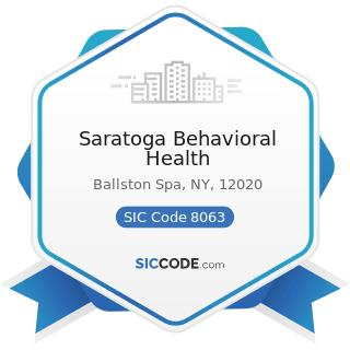 Saratoga Behavioral Health - SIC Code 8063 - Psychiatric Hospitals