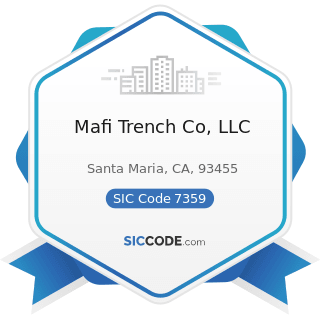 Mafi Trench Co, LLC - SIC Code 7359 - Equipment Rental and Leasing, Not Elsewhere Classified