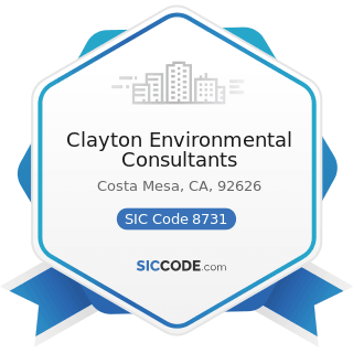 Clayton Environmental Consultants - SIC Code 8731 - Commercial Physical and Biological Research