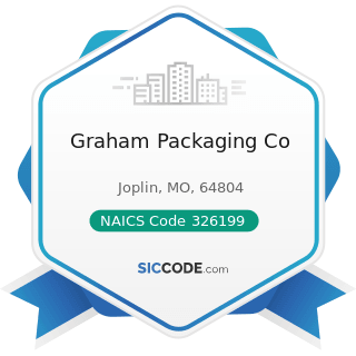 Graham Packaging Co - NAICS Code 326199 - All Other Plastics Product Manufacturing