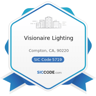 Visionaire Lighting - SIC Code 5719 - Miscellaneous Home Furnishings Stores