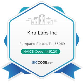 Kira Labs Inc - NAICS Code 446120 - Cosmetics, Beauty Supplies, and Perfume Stores