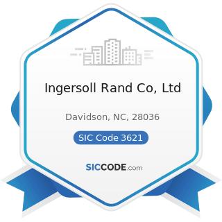 Ingersoll Rand Co, Ltd - SIC Code 3621 - Motors and Generators