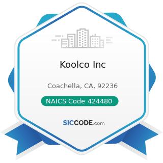 Koolco Inc - NAICS Code 424480 - Fresh Fruit and Vegetable Merchant Wholesalers