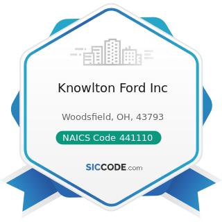 Knowlton Ford Inc - NAICS Code 441110 - New Car Dealers