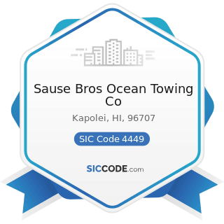 Sause Bros Ocean Towing Co - SIC Code 4449 - Water Transportation of Freight, Not Elsewhere...