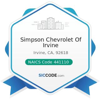 Simpson Chevrolet Of Irvine - NAICS Code 441110 - New Car Dealers