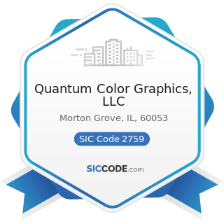 Quantum Color Graphics, LLC - SIC Code 2759 - Commercial Printing, Not Elsewhere Classified