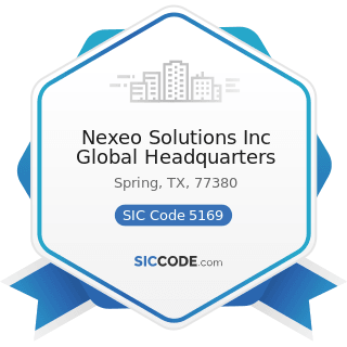 Nexeo Solutions Inc Global Headquarters - SIC Code 5169 - Chemicals and Allied Products, Not...