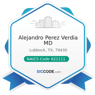 Alejandro Perez Verdia MD - NAICS Code 621111 - Offices of Physicians (except Mental Health...