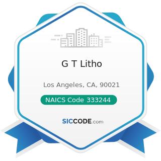 G T Litho - NAICS Code 333244 - Printing Machinery and Equipment Manufacturing