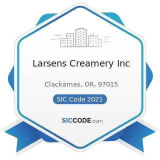 Larsens Creamery Inc - SIC Code 2021 - Creamery Butter