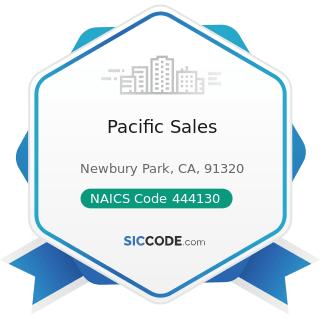 Pacific Sales - NAICS Code 444130 - Hardware Stores