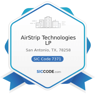 AirStrip Technologies LP - SIC Code 7371 - Computer Programming Services