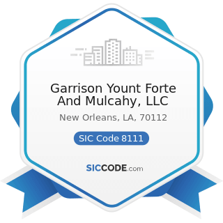 Garrison Yount Forte And Mulcahy, LLC - SIC Code 8111 - Legal Services