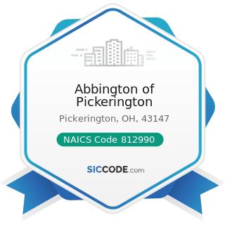 Abbington of Pickerington - NAICS Code 812990 - All Other Personal Services