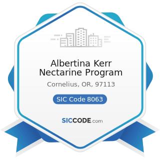Albertina Kerr Nectarine Program - SIC Code 8063 - Psychiatric Hospitals