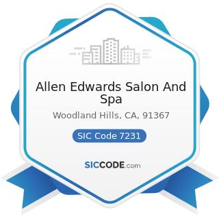 Allen Edwards Salon And Spa - SIC Code 7231 - Beauty Shops