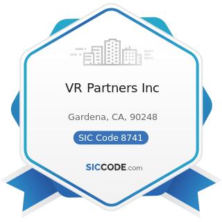 VR Partners Inc - SIC Code 8741 - Management Services
