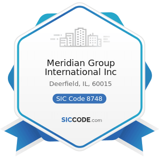 Meridian Group International Inc - SIC Code 8748 - Business Consulting Services, Not Elsewhere...
