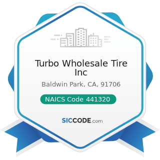 Turbo Wholesale Tire Inc - NAICS Code 441320 - Tire Dealers
