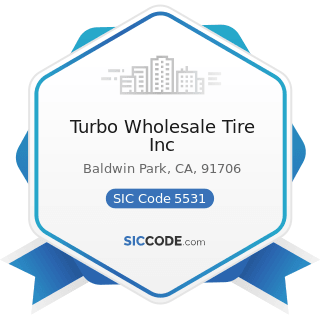 Turbo Wholesale Tire Inc - SIC Code 5531 - Auto and Home Supply Stores