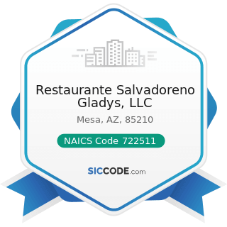Restaurante Salvadoreno Gladys, LLC - NAICS Code 722511 - Full-Service Restaurants