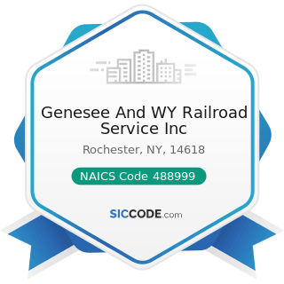 Genesee And WY Railroad Service Inc - NAICS Code 488999 - All Other Support Activities for...
