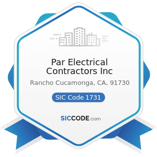 Par Electrical Contractors Inc - SIC Code 1731 - Electrical Work