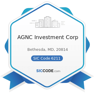 AGNC Investment Corp - SIC Code 6211 - Security Brokers, Dealers, and Flotation Companies