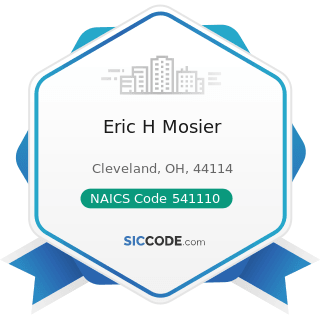 Eric H Mosier - NAICS Code 541110 - Offices of Lawyers
