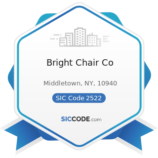 Bright Chair Co - SIC Code 2522 - Office Furniture, except Wood