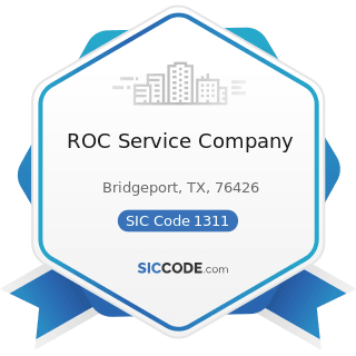 ROC Service Company - SIC Code 1311 - Crude Petroleum and Natural Gas