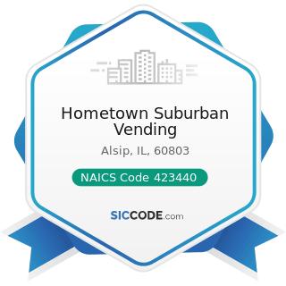 Hometown Suburban Vending - NAICS Code 423440 - Other Commercial Equipment Merchant Wholesalers