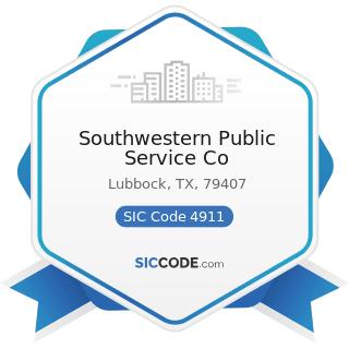 Southwestern Public Service Co - SIC Code 4911 - Electric Services