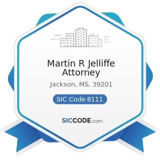 Martin R Jelliffe Attorney - SIC Code 8111 - Legal Services