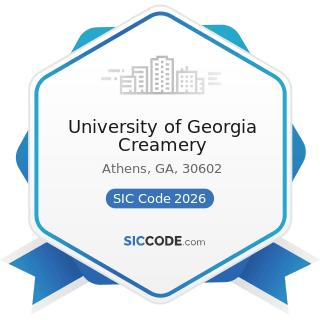 University of Georgia Creamery - SIC Code 2026 - Fluid Milk