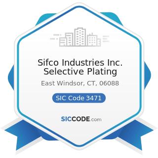 Sifco Industries Inc. Selective Plating - SIC Code 3471 - Electroplating, Plating, Polishing,...