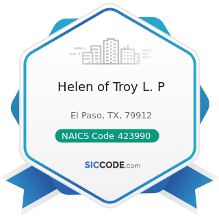 Helen of Troy L. P - NAICS Code 423990 - Other Miscellaneous Durable Goods Merchant Wholesalers