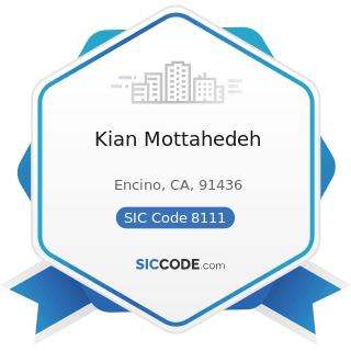 Kian Mottahedeh - SIC Code 8111 - Legal Services