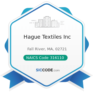 Hague Textiles Inc - NAICS Code 316110 - Leather and Hide Tanning and Finishing