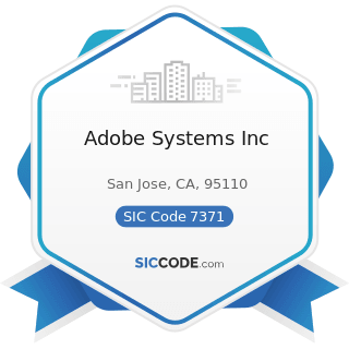 Adobe Systems Inc - SIC Code 7371 - Computer Programming Services