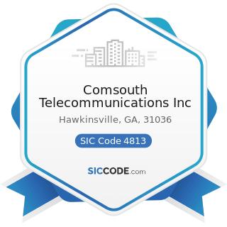 Comsouth Telecommunications Inc - SIC Code 4813 - Telephone Communications, except Radiotelephone