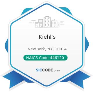 Kiehl's - NAICS Code 446120 - Cosmetics, Beauty Supplies, and Perfume Stores