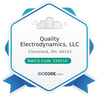 Quality Electrodynamics, LLC - NAICS Code 334510 - Electromedical and Electrotherapeutic...