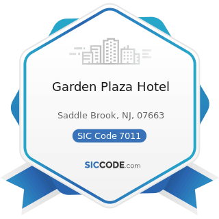 Garden Plaza Hotel - SIC Code 7011 - Hotels and Motels